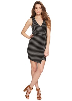 BB Dakota Toni Stripe Asymmetrical Wrap Dress