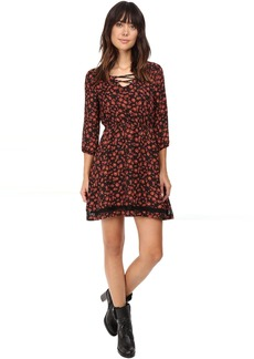 Jack by BB Dakota Vanderwood Printed Dress w/ Lace Trim