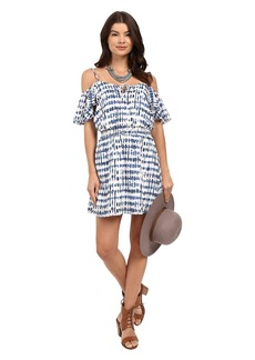 Jack by BB Dakota Vivi Stepping Stones Printed Crepe de Chine Smocked Waist Dress