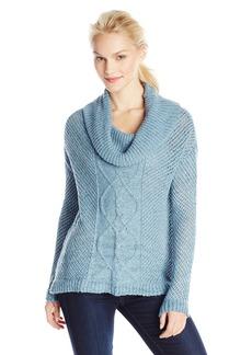 Jack by BB Dakota Women's amwell Marled Yarn Cable Knit Turtleneck weater  mall