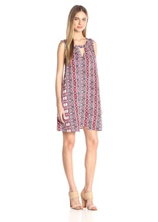 Jack by BB Dakota Women's Artis Printed Overlap Dress