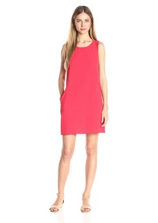 Jack by BB Dakota Women's Ballard Crepe Shift Dress with Back Detail