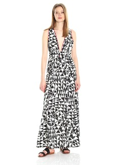 Jack by BB Dakota Women's Beahthe Villas Printed Poly Habatai Maxi Dress