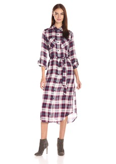 Jack by BB Dakota Women's Carraway Belted Plaid Shirt Dress