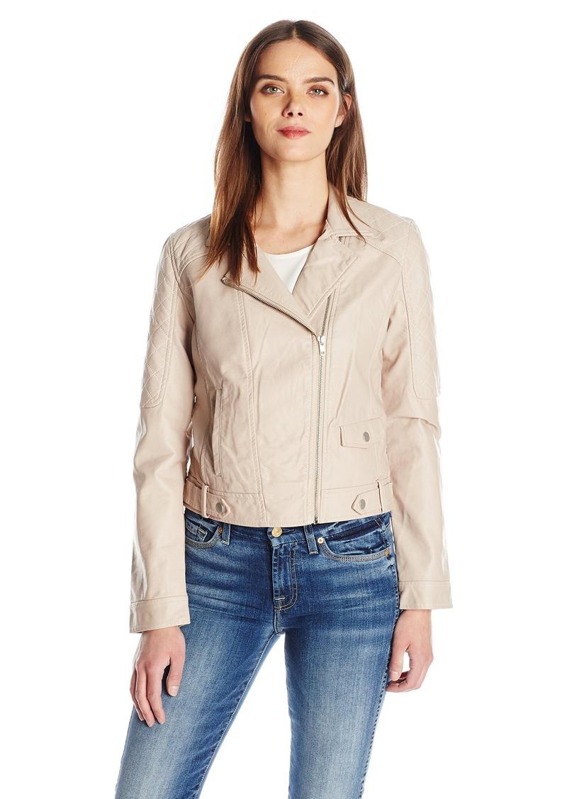Jack by BB Dakota Women's Clover Faux Leather Moto Jacket