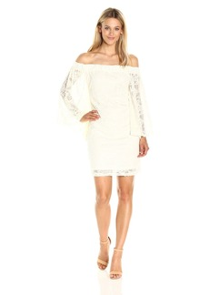 Jack by BB Dakota Women's Daniela Stretch Lace Off The Shoulder Dress
