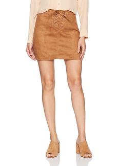 Jack by BB Dakota Women's Darling Faux Suede Lace-up Skirt