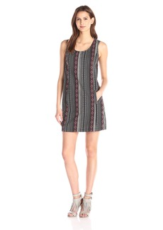 Jack by BB Dakota Women's Estella Woven Jacquard Shift Dress