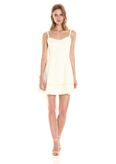 Jack by BB Dakota Women's Gaines Cotton Eyelet Fit and Flare Dress