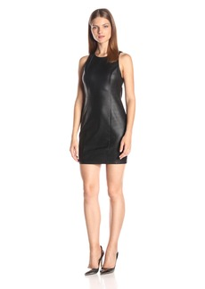 Jack by BB Dakota Women's Gatsby Snakeskin Ponte Faux Leather Dress