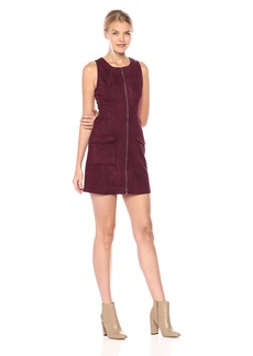 Jack by BB Dakota Women's Havens Faux Suede Scuba Zip Front Dress