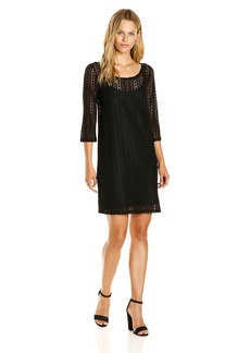 Jack by BB Dakota Women's Jonah Stripe Lace Dress With Slip