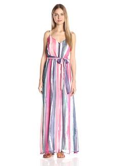 Jack by BB Dakota Women's Joyner Printed Crinkle Chiffon Maxi Dress