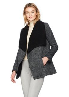 Jack by BB Dakota Women's Karly Herringbone Fleece Jacket With Sherpa Collar