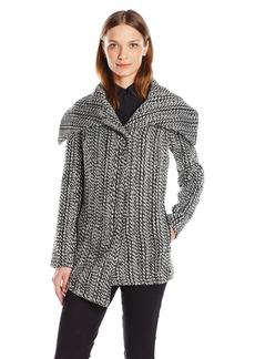 Jack by BB Dakota Women's Keeegan Braided Tweed Coat