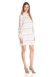 Jack by BB Dakota Women's Kerin Printed Open Arm Long Sleeve Dress