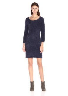 Jack by BB Dakota Women's Laurentia Eyelesh Boatneck Sweater Dress