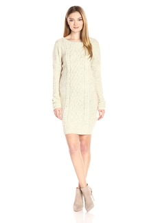 Jack by BB Dakota Women's Macey Speckled Cable Knit Sweater Dress