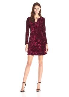 Jack by BB Dakota Women's Martelli Velvet Satin Binding Dress