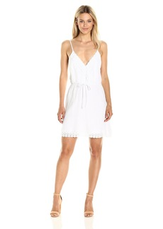 Jack by BB Dakota Women's Melina Cotton Gauze Dress with Wide Scallop Lace Trim