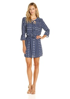 Jack by BB Dakota Women's Myrtle Printed Smock Waist Dress