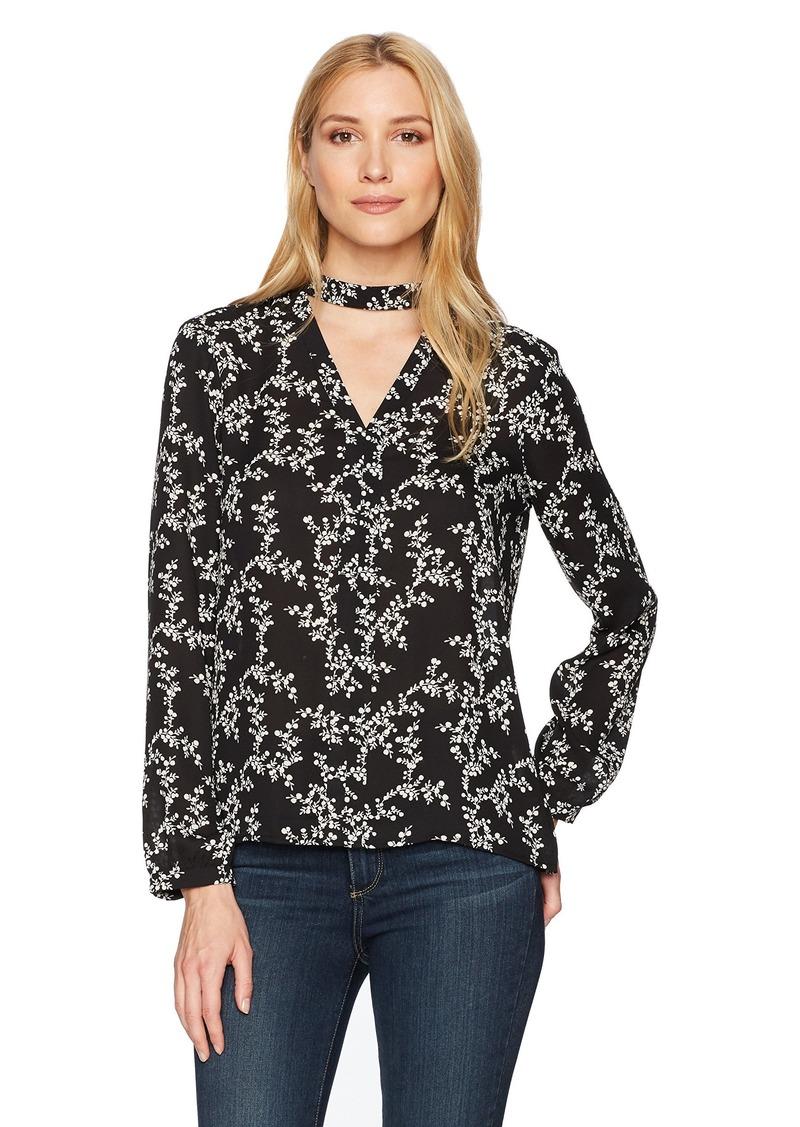 28213e3126b857 Jack by BB Dakota Women s Nala Midnight Floral Printed CDC Long Sleeve Top