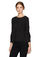 Jack by BB Dakota Women's Rita Novelty Stitched Side Buttoned Sweater