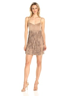 Jack by BB Dakota Women's rowlands Soft Faux Suede Fringe Dress