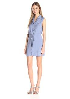 Jack by BB Dakota Women's Santos Drawstring Pocket Shirt Dress