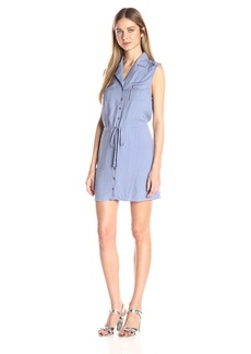 Jack by BB Dakota Women's Santos Drawstring Pocket Shirt Dress