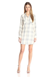 Jack by BB Dakota Women's Seymour Soft Plaid Long Sleeve Shirt Dress