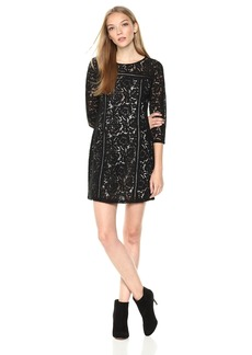 Jack by BB Dakota Women's Shelby Floral Lace 3/4 Sleeve Dress