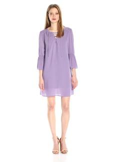 Jack by BB Dakota Women's Simone Rayon Crepe Lace-Front Dress and Slip