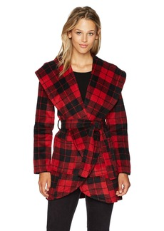 Jack by BB Dakota Women's Stanley Buffalo Plaid Wrap Coat