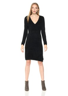 Jack by BB Dakota Women's Valencia Three Quarters Sleeve Eyelash Fuzzy Sweater Dress
