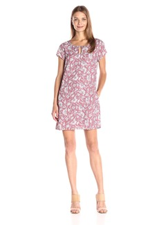 Jack by BB Dakota Women's Zacharias Floral Printed Keyhole Dress