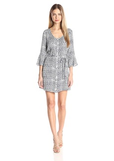 Jack by BB Dakota Women's Zaire Printed Crepe Belted Dress