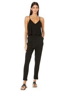 BB Dakota Jump Start My Heart Jersey Jumpsuit with Ruffle Bodice
