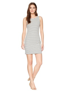 BB Dakota Karen Striped Ponte Bodycon Dress with Back Elastic