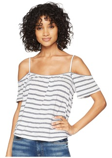 BB Dakota Keagan Cold Shoulder Striped Top