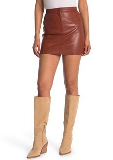 BB Dakota Keep Livin Faux Leather Skirt
