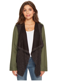 BB Dakota Lakani Cotton Twill Jacket with Contrast Drapey Knit Front