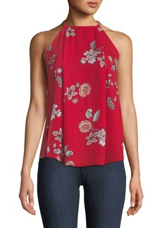 BB Dakota Laura Floral-Print Halter Blouse