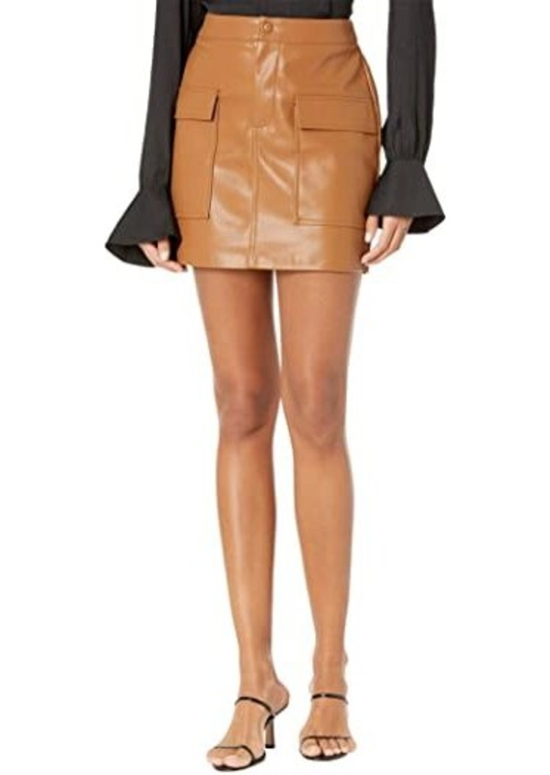 BB Dakota Leather Too Late Skirt