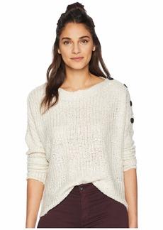 BB Dakota Level Up Buttoned Drop Shoulder Sweater