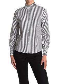 BB Dakota Life is Ruffle Striped Shirt