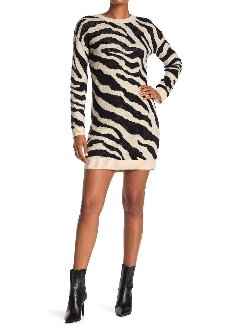 Life is Wild Zebra Stripe Sweater Dress