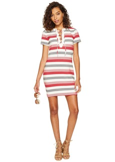 BB Dakota Lijah Stripe Knit + Rib Trim Dress