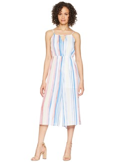 "BB Dakota Lovy ""Watercolor Stripe"" Printed Cropped Jumpsuit"