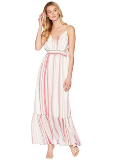 "BB Dakota Luciana ""Umbrella Stripe"" Printed Crinkle Chiffon Maxi Dress"